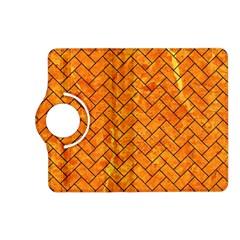 Brick2 Black Marble & Orange Marble (r) Kindle Fire Hd (2013) Flip 360 Case by trendistuff