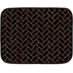 Brick2 Black Marble & Orange Marble Double Sided Fleece Blanket (mini) by trendistuff