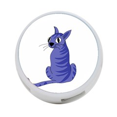 Blue Cat 4 Port Usb Hub (two Sides)  by Valentinaart