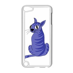 Blue Cat Apple Ipod Touch 5 Case (white) by Valentinaart
