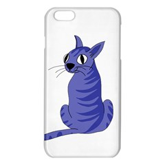 Blue Cat Iphone 6 Plus/6s Plus Tpu Case by Valentinaart