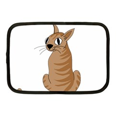 Brown Cat Netbook Case (medium)  by Valentinaart