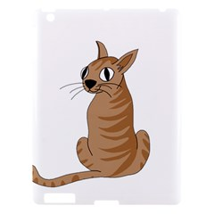 Brown Cat Apple Ipad 3/4 Hardshell Case by Valentinaart