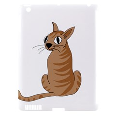 Brown Cat Apple Ipad 3/4 Hardshell Case (compatible With Smart Cover) by Valentinaart