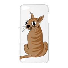 Brown Cat Apple Ipod Touch 5 Hardshell Case by Valentinaart