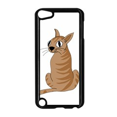 Brown Cat Apple Ipod Touch 5 Case (black) by Valentinaart