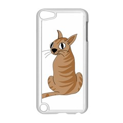 Brown Cat Apple Ipod Touch 5 Case (white) by Valentinaart