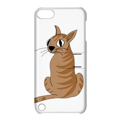 Brown Cat Apple Ipod Touch 5 Hardshell Case With Stand by Valentinaart