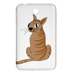Brown Cat Samsung Galaxy Tab 3 (7 ) P3200 Hardshell Case  by Valentinaart