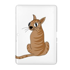 Brown Cat Samsung Galaxy Tab 2 (10 1 ) P5100 Hardshell Case  by Valentinaart