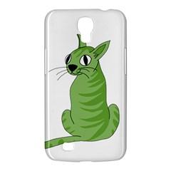 Green Cat Samsung Galaxy Mega 6 3  I9200 Hardshell Case by Valentinaart