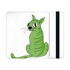 Green Cat Samsung Galaxy Tab Pro 8 4  Flip Case by Valentinaart