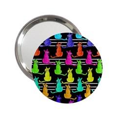 Colorful Cats Pattern 2 25  Handbag Mirrors by Valentinaart