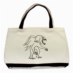Monster Bird Drawing Basic Tote Bag (two Sides) by dflcprints