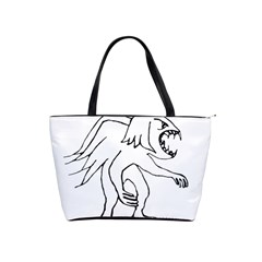 Monster Bird Drawing Shoulder Handbags by dflcprints