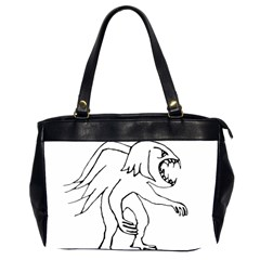 Monster Bird Drawing Office Handbags (2 Sides)  by dflcprints
