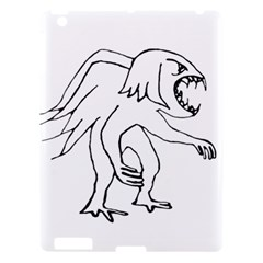 Monster Bird Drawing Apple Ipad 3/4 Hardshell Case by dflcprints