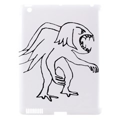Monster Bird Drawing Apple Ipad 3/4 Hardshell Case (compatible With Smart Cover) by dflcprints