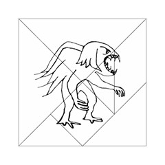 Monster Bird Drawing Acrylic Tangram Puzzle (6  X 6 ) by dflcprints