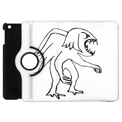 Monster Bird Drawing Apple Ipad Mini Flip 360 Case by dflcprints