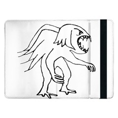 Monster Bird Drawing Samsung Galaxy Tab Pro 12 2  Flip Case by dflcprints