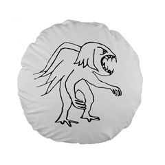 Monster Bird Drawing Standard 15  Premium Flano Round Cushions by dflcprints