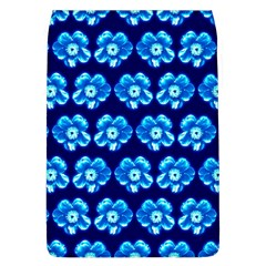 Turquoise Blue Flower Pattern On Dark Blue Flap Covers (l)