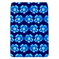 Turquoise Blue Flower Pattern On Dark Blue Flap Covers (s)
