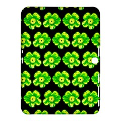 Green Yellow Flower Pattern On Dark Green Samsung Galaxy Tab 4 (10 1 ) Hardshell Case