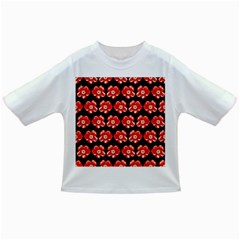 Red  Flower Pattern On Brown Infant/toddler T Shirts
