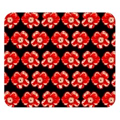 Red  Flower Pattern On Brown Double Sided Flano Blanket (small)  by Costasonlineshop