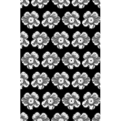 White Gray Flower Pattern On Black 5 5  X 8 5  Notebooks by Costasonlineshop