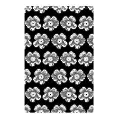 White Gray Flower Pattern On Black Shower Curtain 48  X 72  (small)