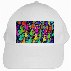 Colorful Cats White Cap by Valentinaart