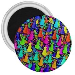 Colorful Cats 3  Magnets by Valentinaart