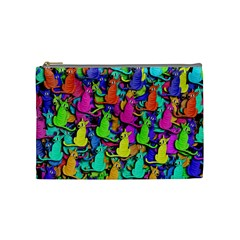 Colorful Cats Cosmetic Bag (medium)  by Valentinaart