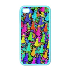 Colorful Cats Apple Iphone 4 Case (color) by Valentinaart
