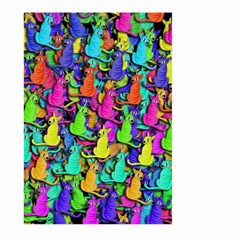 Colorful Cats Large Garden Flag (two Sides) by Valentinaart