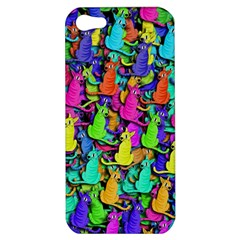 Colorful Cats Apple Iphone 5 Hardshell Case by Valentinaart