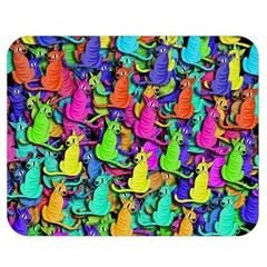 Colorful Cats Double Sided Flano Blanket (medium)  by Valentinaart