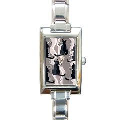 Elegant Cats Rectangle Italian Charm Watch by Valentinaart