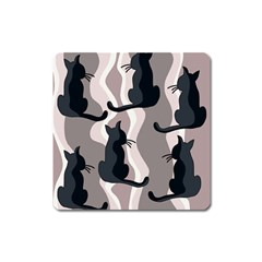 Elegant Cats Square Magnet by Valentinaart