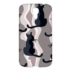 Elegant Cats Samsung Galaxy S4 I9500/i9505 Hardshell Case by Valentinaart