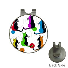 Colorful Abstract Cats Hat Clips With Golf Markers by Valentinaart