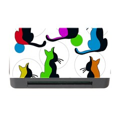 Colorful Abstract Cats Memory Card Reader With Cf by Valentinaart