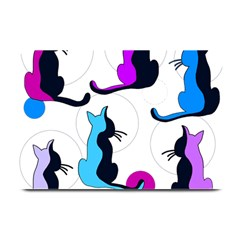 Purple Abstract Cats Plate Mats by Valentinaart