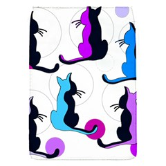 Purple Abstract Cats Flap Covers (s)  by Valentinaart