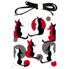 Elegant Abstract Cats  Shoulder Sling Bags by Valentinaart