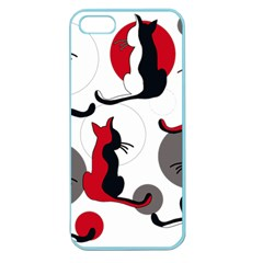 Elegant Abstract Cats  Apple Seamless Iphone 5 Case (color)