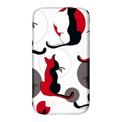 Elegant Abstract Cats  Samsung Galaxy S4 Classic Hardshell Case (pc+silicone) by Valentinaart